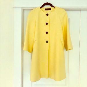 Zara Womens Yellow Peacoat Small